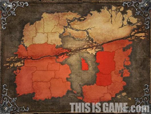 Доступна половина карты игрового мира TERA