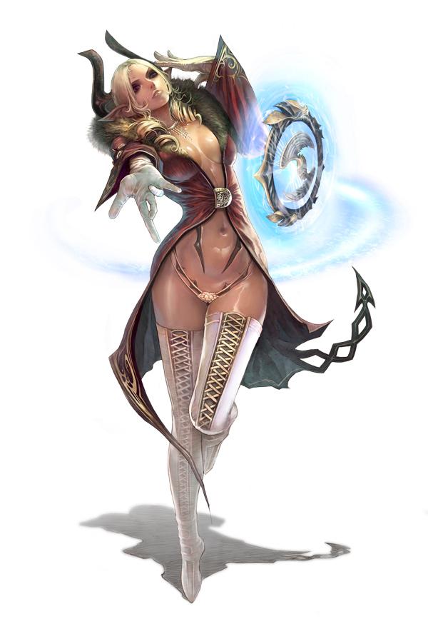 Девушка Castanic, арт (Castanic Female Art)