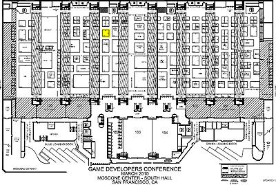 Схема прохода к стенду TERA на GDC 2010