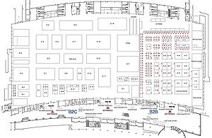 Схема зала выставки Gstar 2009