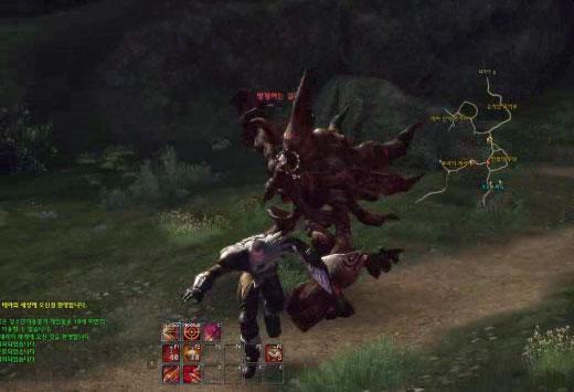 Прыжок Human Archer в TERA