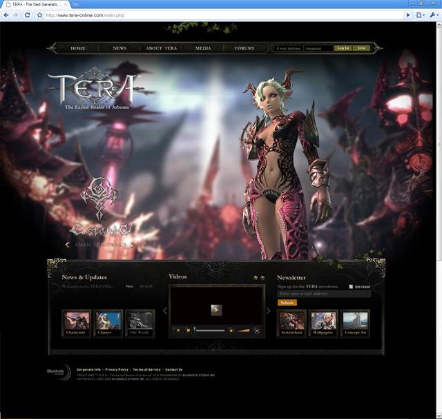 Главная страница официального англоязычного сайта