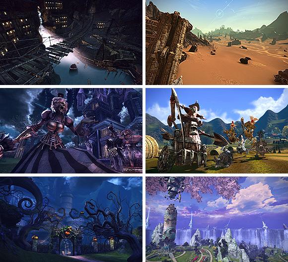 Разнообразие окружения в игре TERA