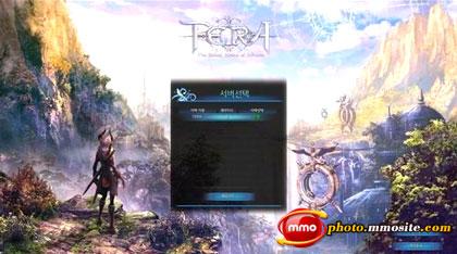 Экран подключения напоминает игры NCsoft, а Aion в особенности.